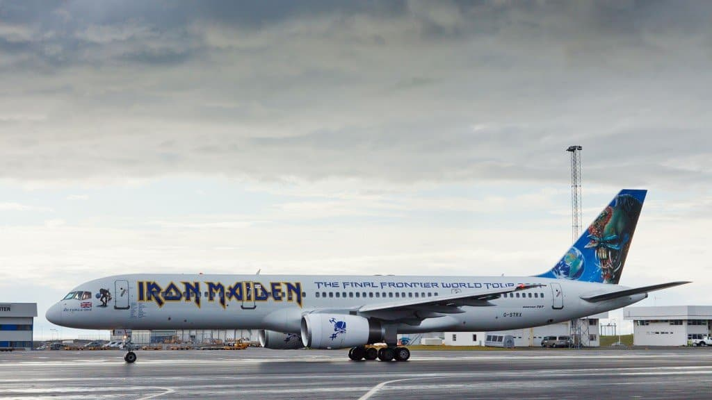 Iron Maiden's Ed Force One Airplane