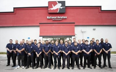 Aviation Maintenance Students Commit to Excellence