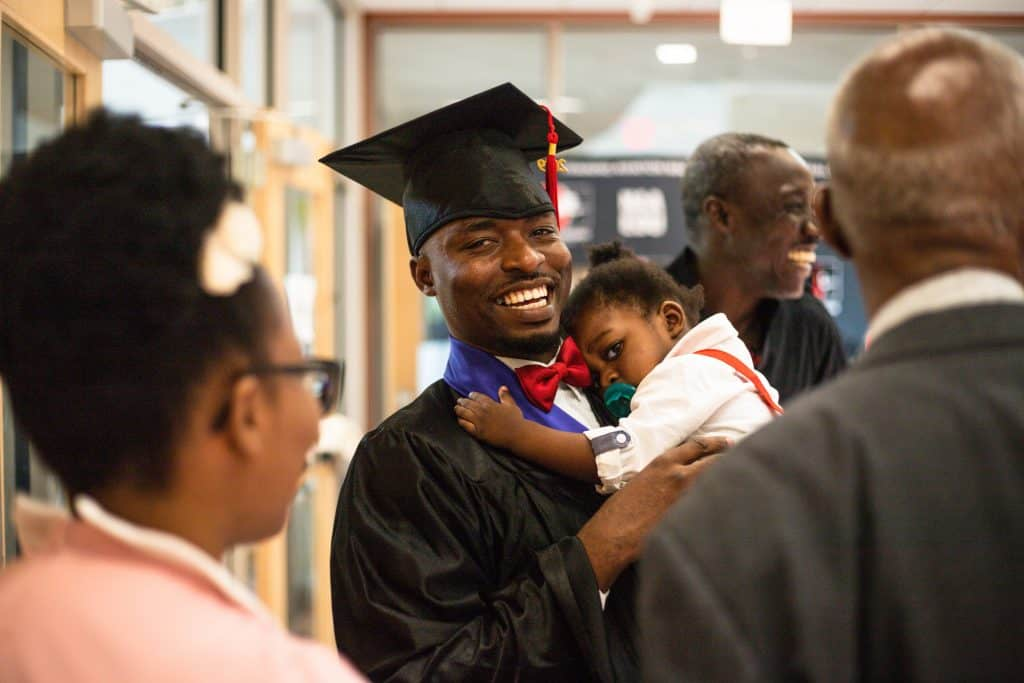NAA New England Graduate and Child